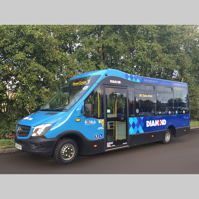 Rotala PLC invests in Mellor Stratas for Diamond Bus in the West Midlands